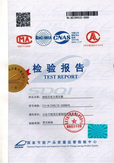 S13变压器-检验报告